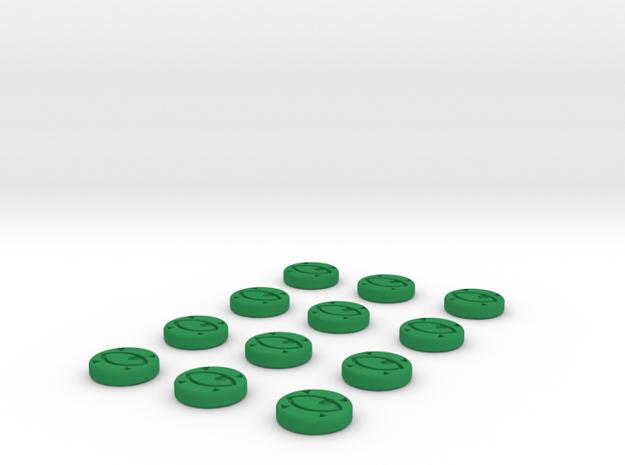Focus Tokens  in Green Processed Versatile Plastic