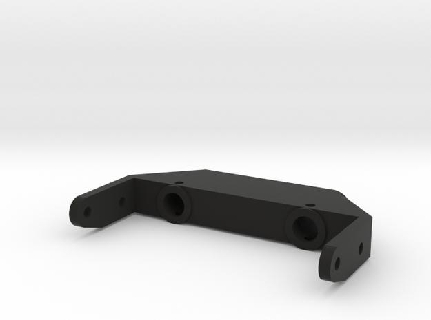 SCX 10-2 Front Bumper Mount in Black Natural Versatile Plastic