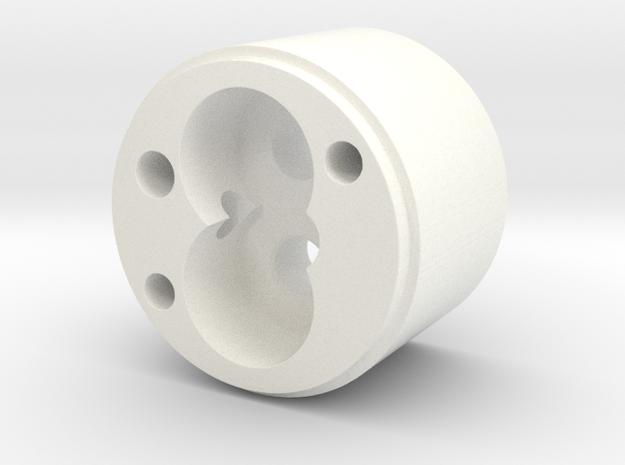 OilPumpBody in White Processed Versatile Plastic