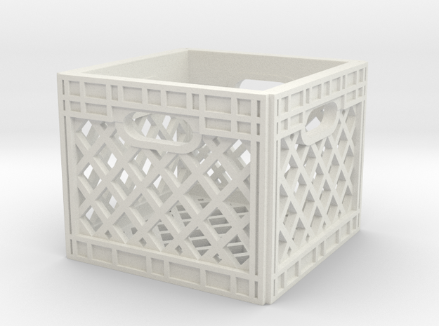 1:10 Scale Milk Crate in White Strong & Flexible