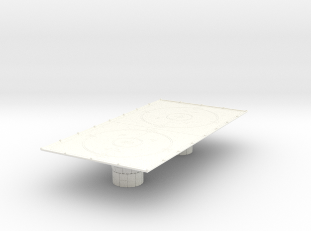 1/270 Imperial Landing Pad (Large) in White Strong & Flexible Polished