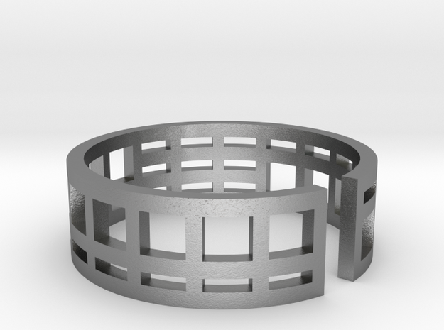 Architecture ring Corbusier Unité d'Hab size 5,5-6 in Natural Silver