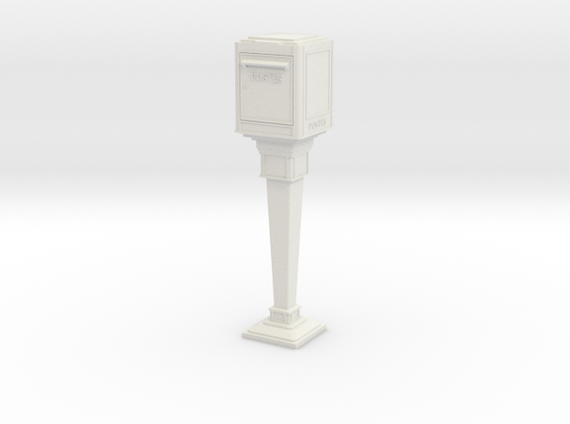 1/24 French Post Box / boîte postale n°1 in White Strong & Flexible