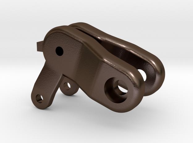 Achsschenkel li re Anhänger in Polished Bronze Steel