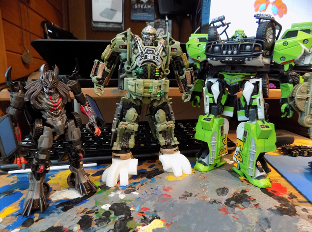 The Last Knight Voyager Hound feet extensions (TLK in White Processed Versatile Plastic