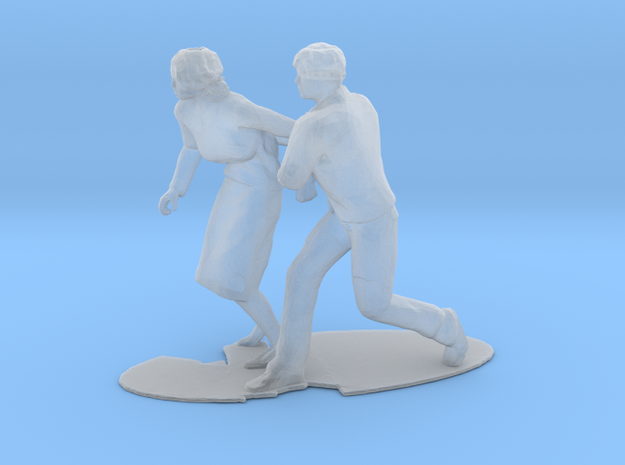 Couple Running Figure in Smoothest Fine Detail Plastic: 1:64 - S