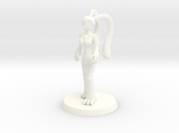 Chaos Daemon - Nurgle Plaguebearer 1/Slime Girl 1 in White Strong & Flexible Polished