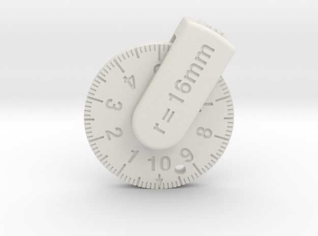 M-ruler in White Natural Versatile Plastic