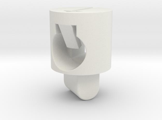 Tippmann M4 Hop Up Nub - Enhanced regular in White Natural Versatile Plastic