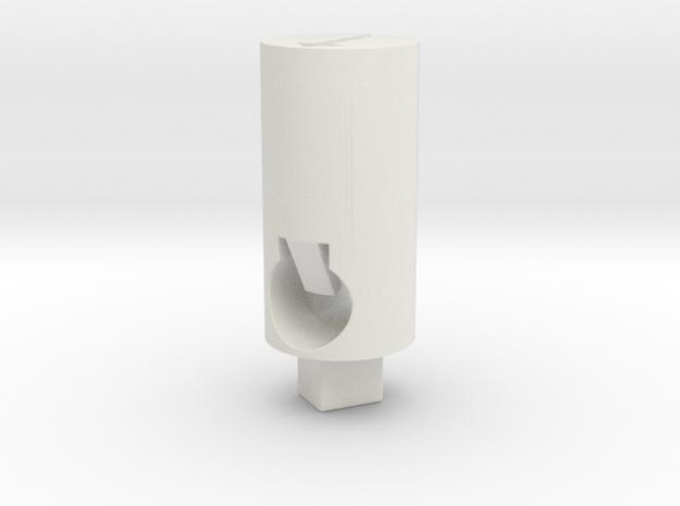 Tippmann M4 Hop Up Nub - Long flat 90° in White Natural Versatile Plastic