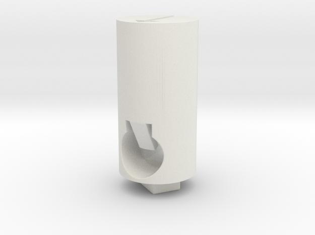 Tippmann M4 Hop Up Nub - Long flat, short tip in White Natural Versatile Plastic