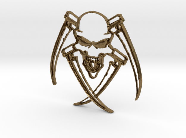 skull Pendant in Natural Bronze: Medium