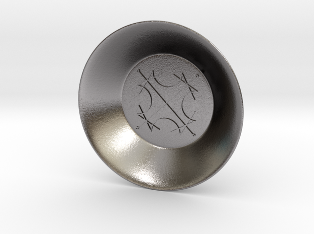 Seal of the Sun Charging Bowl (small) in Polished Nickel Steel