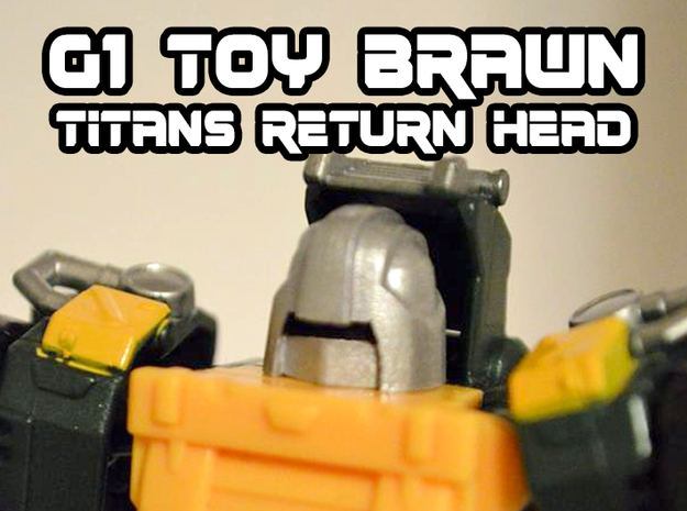 Brawn (Titans Return) Toy/Jipe Head  in Smooth Fine Detail Plastic