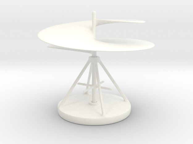 Trekr DaVinci Helicopter in White Strong & Flexible Polished