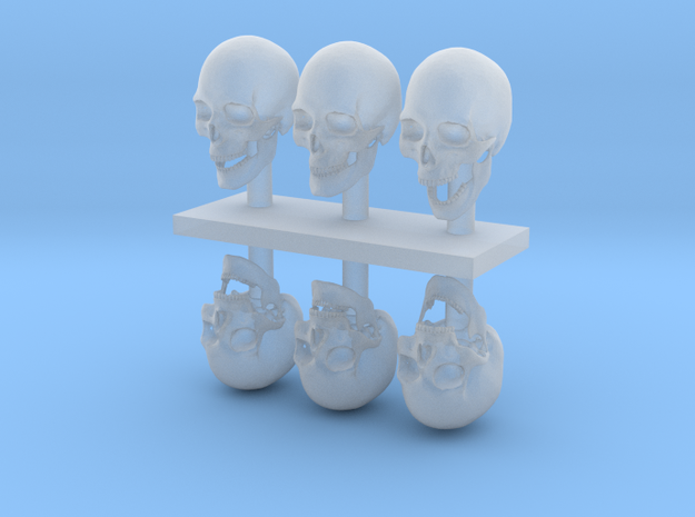 1:12 scale Skulls  in Frosted Ultra Detail