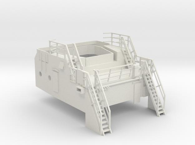 Superstructure 1/75 V60 fits Harbor Tug  in White Natural Versatile Plastic