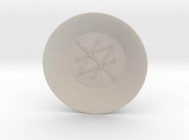 Seal of Saturn Charging Bowl (large) in Natural Sandstone