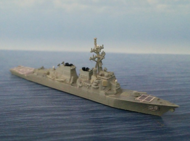 1/2000 USS Curtis Wilbur in Smooth Fine Detail Plastic