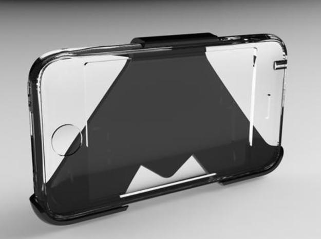 Easylife - Wall mount for iPhone3 3d printed Front view of the mount with a transparent iPhone 3.