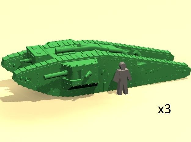 6mm Mk.IV Male Tadpole tank in Smoothest Fine Detail Plastic