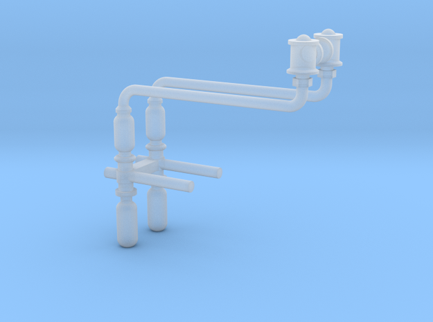 HO scale Baldwin injectors in Smooth Fine Detail Plastic