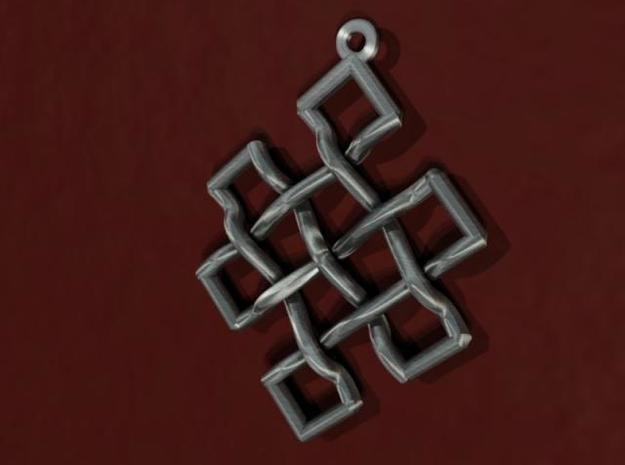 Endless Knot Pendant 3d printed 3D rendering of pendant.
