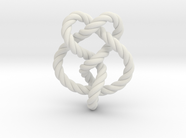 Miller institute knot (Rope) in White Natural Versatile Plastic: Extra Small