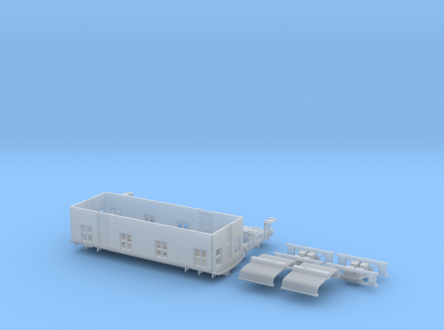 N Scale Ingersol Boxcab in Smoothest Fine Detail Plastic