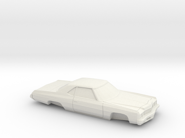 1/24 1973 Chevrolet Impala Sport Coupe in White Natural Versatile Plastic