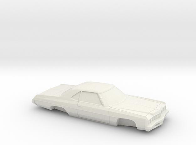 1/24 1973 Chevrolet Impala Sport Coupe in White Natural Versatile Plastic
