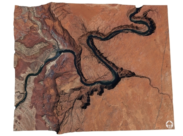 Horseshoe Bend Map, Arizona