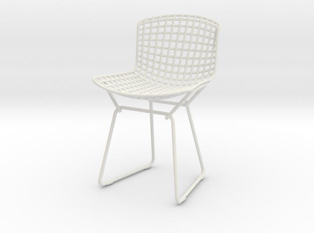 "Knoll Bertoia Side Chair Frame 4""H in White Natural Versatile Plastic"