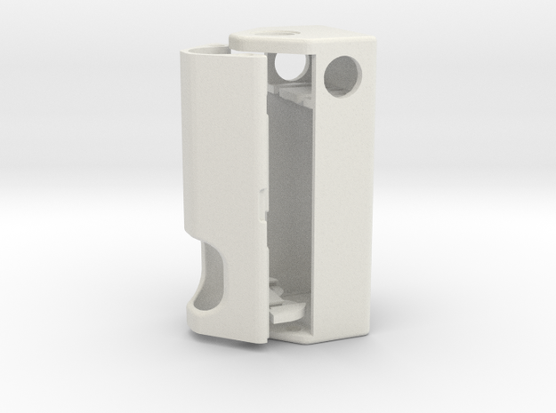 Squonk Potbelly 2s 18650  in White Strong & Flexible