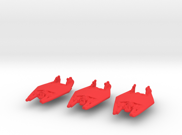 NR Frazi 3 Heavy Fighter Wing Pack WSF in Red Processed Versatile Plastic
