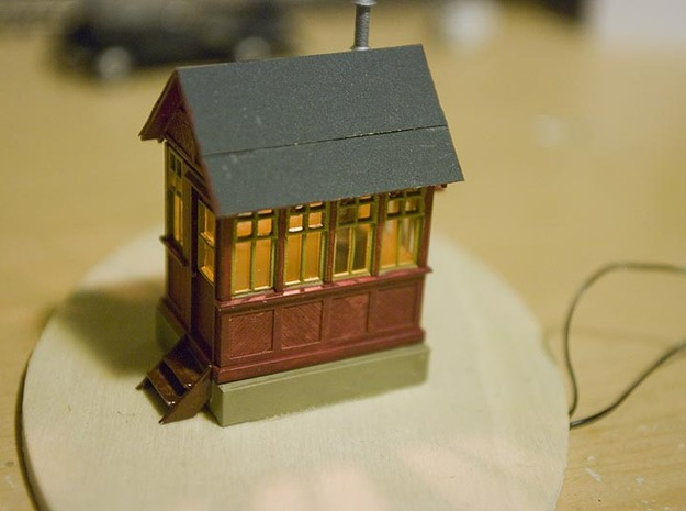 CPR John Street Gatehouse - HO Scale (1/87) 3d printed Painted and Detailed shanty.