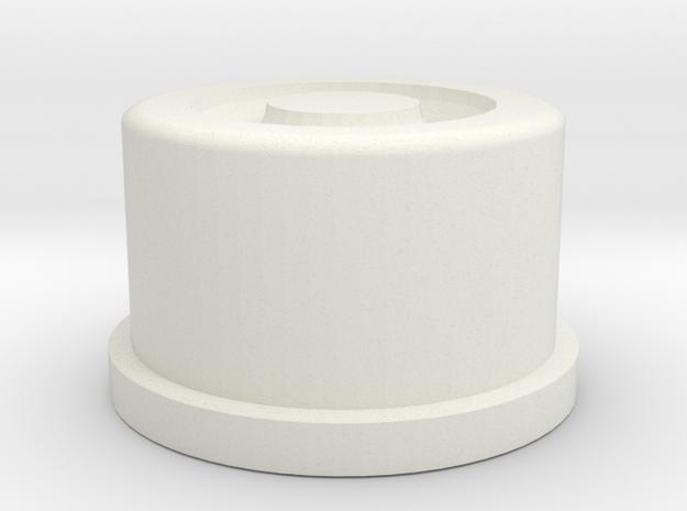 Swedish Vaper SquonkER AIR v2 button in White Strong & Flexible