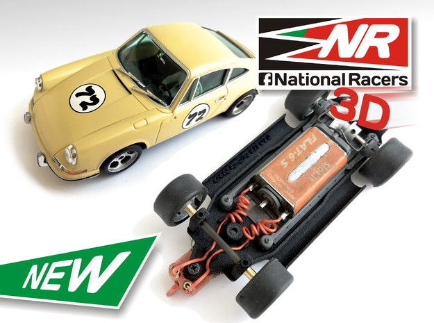 3D Chassis - MRRC Porsche 911 - Inline in Black Strong & Flexible