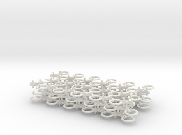 Chain Harrow 1/32 - Chains in White Strong & Flexible