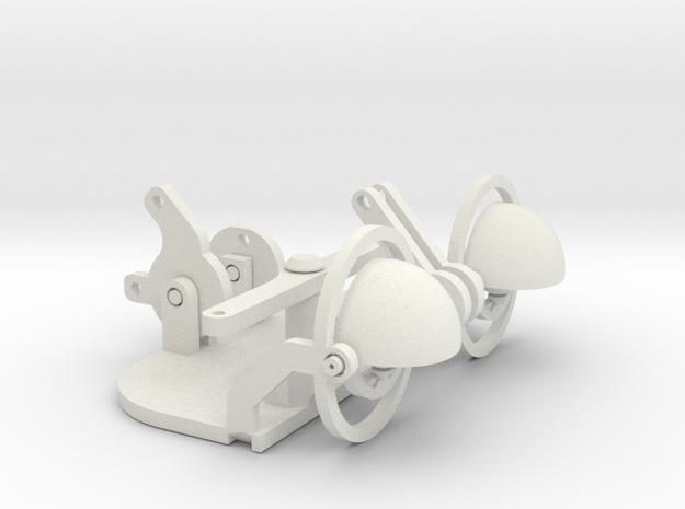 19 To 22mm Eye Gimbal 50mm Apart in White Natural Versatile Plastic