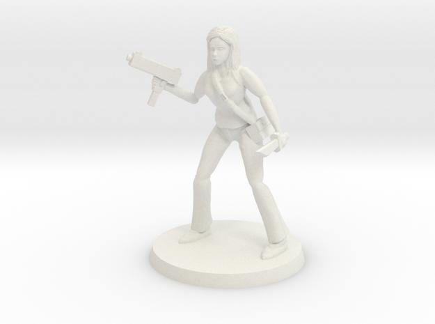 Lara Zombie Slayer in White Natural Versatile Plastic
