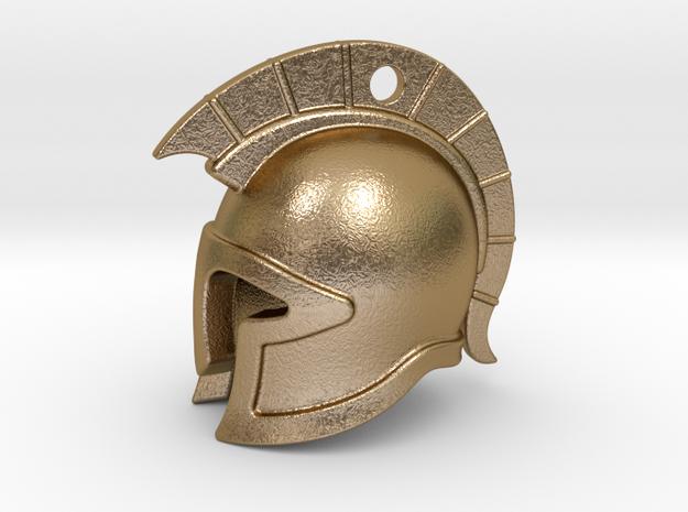 spartan helmet in Polished Gold Steel