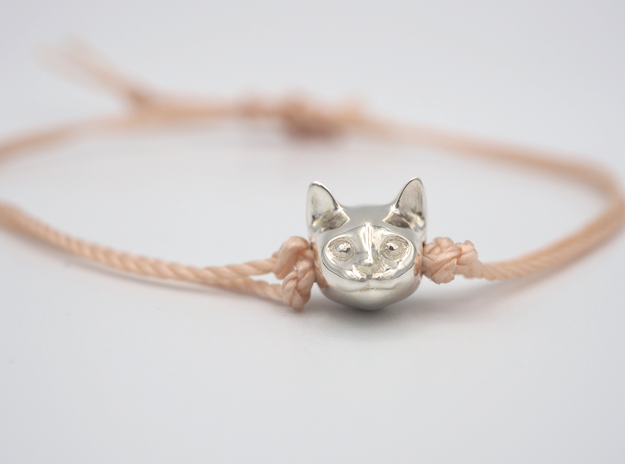 Cat Lover Friendship Bracelet Charm - Smiley Cat