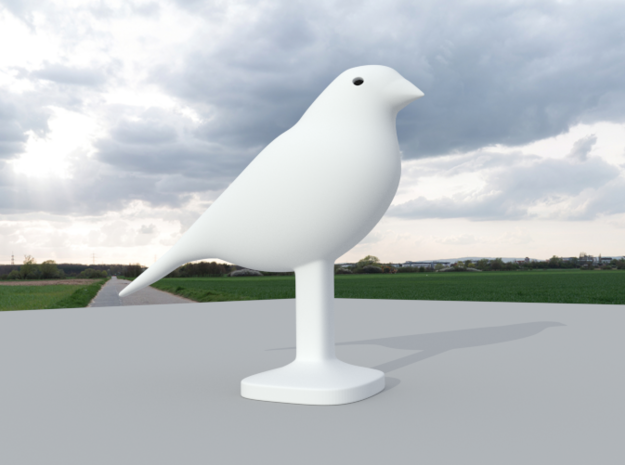Canary Bird in White Natural Versatile Plastic