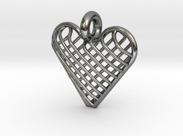 Latticed Heart Pendant