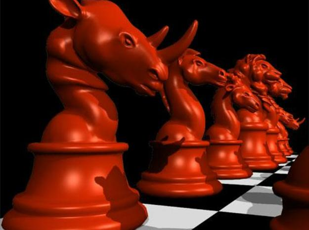 Individual Chess pieces - Animal Kingdom 3d printed Rook - (red) render in Maya
