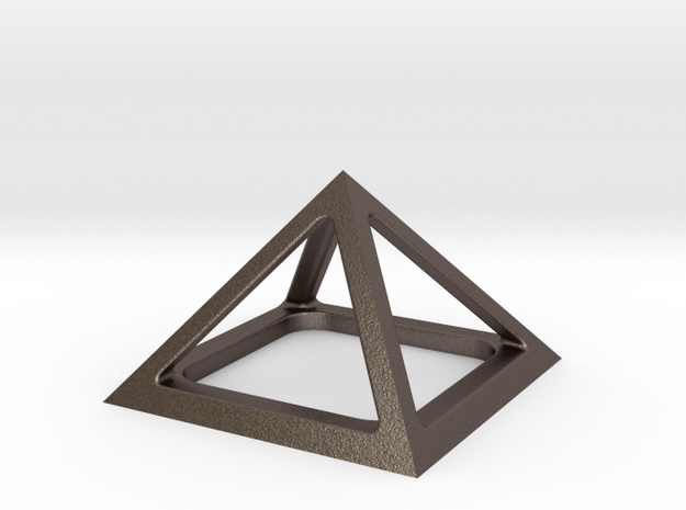 Pyramid of Cheops in Polished Bronzed Silver Steel