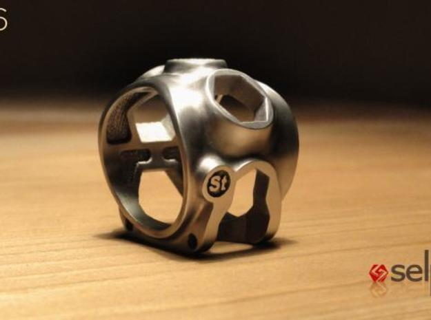 1086 ToolRing - size 10 (19,80 mm) 3d printed 1086 ToolRing - Brushed Finish B