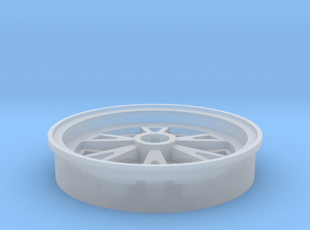 1/25 scale 1962 Halibrand rear wheel in Frosted Ultra Detail