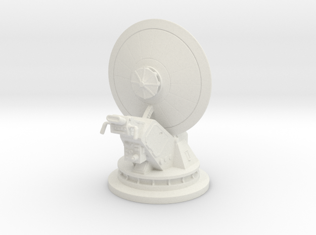 dish turret 1:44 scale in White Natural Versatile Plastic